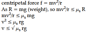 Derive an expression for the maximum speed acquired by vehicle on a