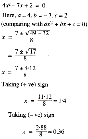solve the following quadratic equation and give the answer correct to two significant figures sarthaks econnect largest online education community solve the following quadratic equation