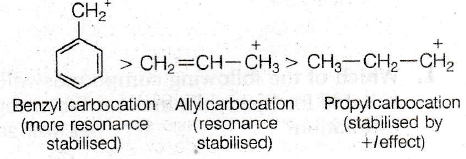 The order of stability of the following carbocations ...