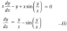 Find the particular solution of the differential equation
