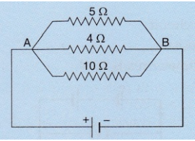 In The Circuit Diagram Given Below The Current Flowing Across 5 Ohm