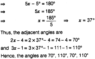 The Adjacent Angles Of A Parallelogram Are 2x 4 And 3x 1 Find The Measures Of All Angles Of The Parallelogram Sarthaks Econnect Largest Online Education Community