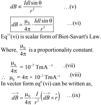 state and explain BIOT- SAVART law give its application to