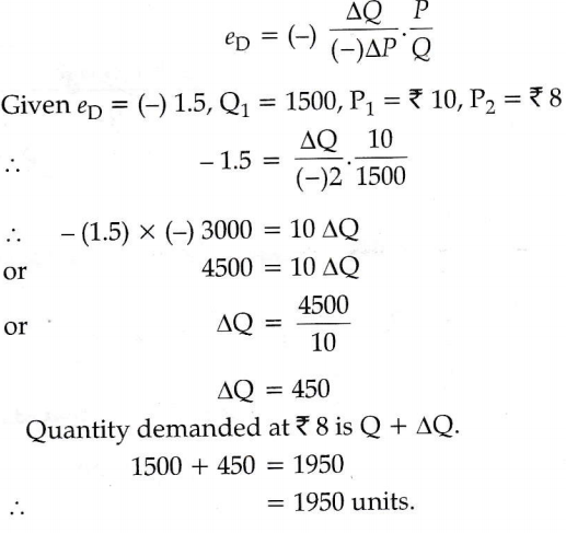 The Quantity Demanded Of A Good Is 1500 Units At The Price Of Rs