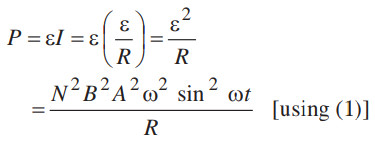A coil of number of turns N, area A, is rotated at a