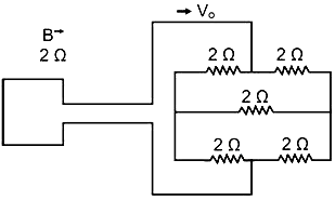 A square loop of side 10 cm and resistance 2 Ω is moved