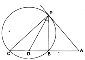 In fig  AP is a tangent to the circle at P, ABC is a secant