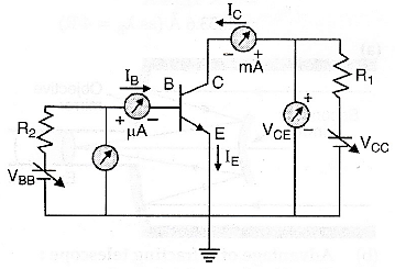 Draw the circuit diagram for studying the characteristics