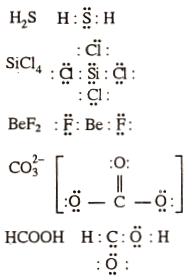 Draw The Lewis Structures For The Following Molecules And Ions H2s Sicl4 Bef2 Co3 2 Hcooh Sarthaks Econnect Largest Online Education Community