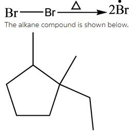 Br2 breaks into 2 Br radicals