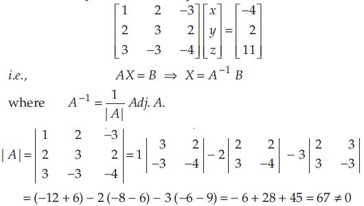 Using Matrices Solve The Following System Of Equations X 2y