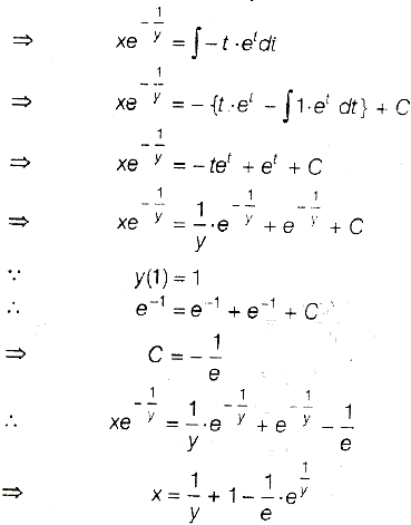 Consider The differential equation y^2dx + (x - 1/y)dy = 0