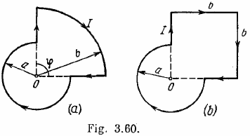 Find the magnetic induction of the field at the point O of