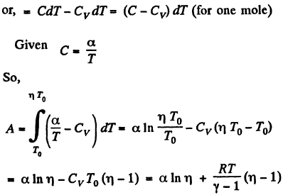 An ideal gas has an adiabatic exponent γ. In some process